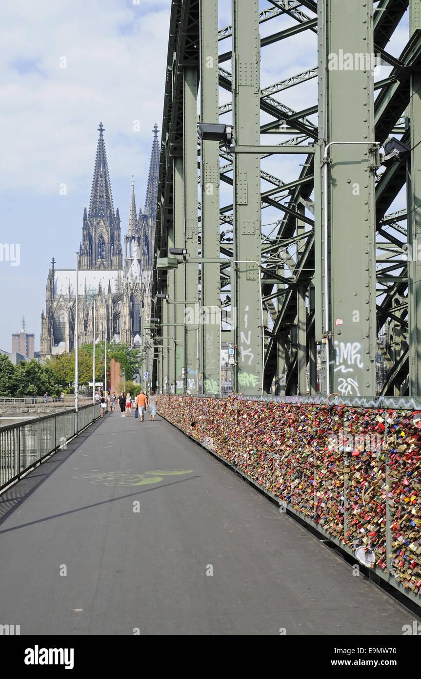 Hohenzollern Bridge, Cologne, Germany Stock Photo