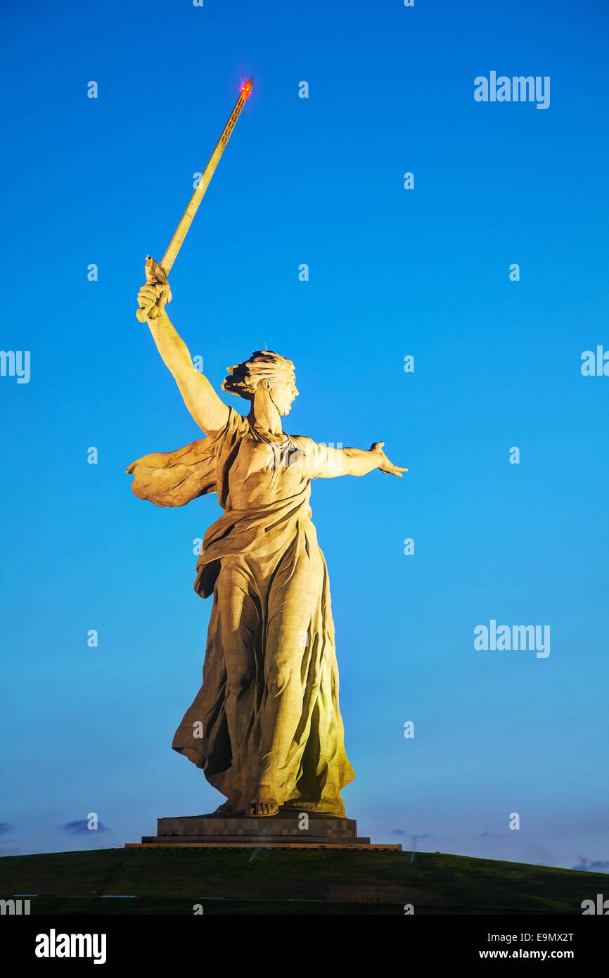 'The Motherland calls!' monument - Stock Image