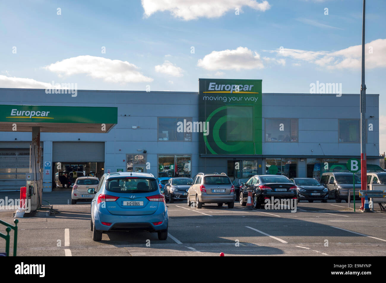 Europcar car rentals at Dublin airport Ireland Stock Photo