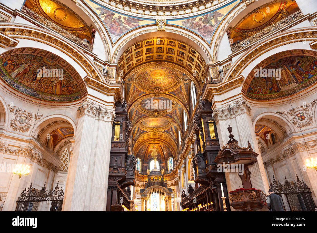 Interior Of The St Paulu0027s Cathedral, London, UK.   Stock Image
