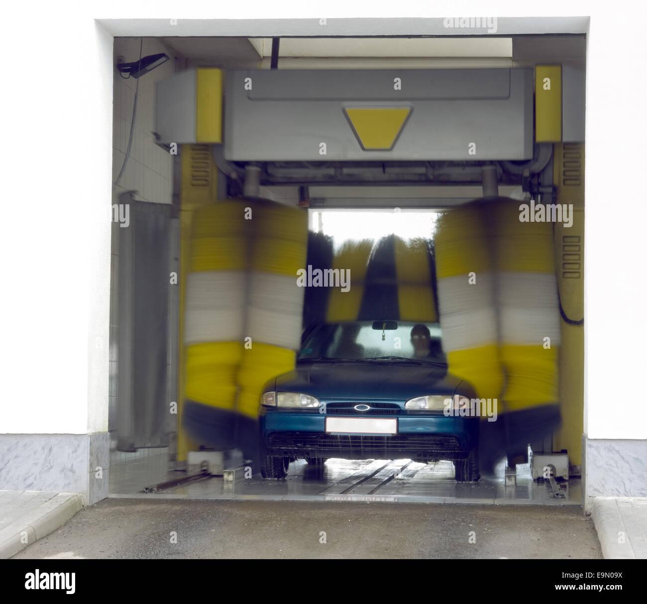 Automatic car wash - Stock Image
