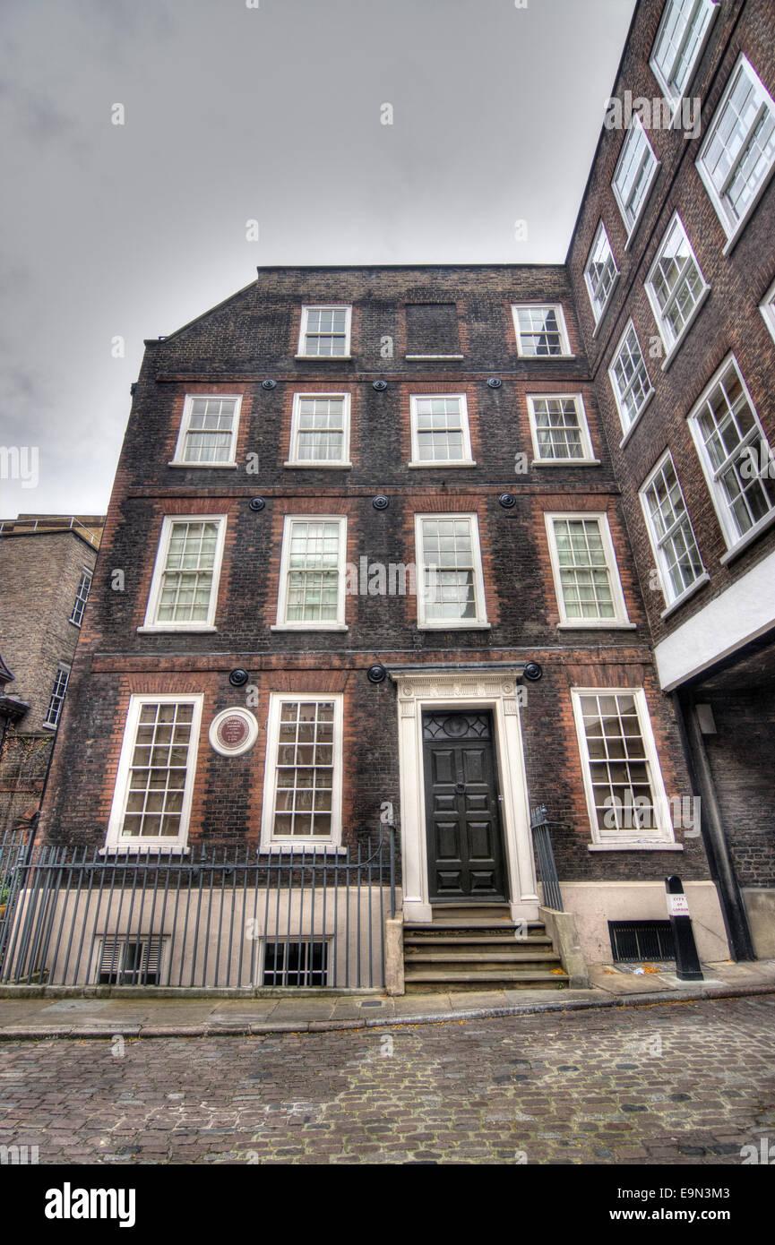 Dr Johnson's House  Fleet St London - Stock Image