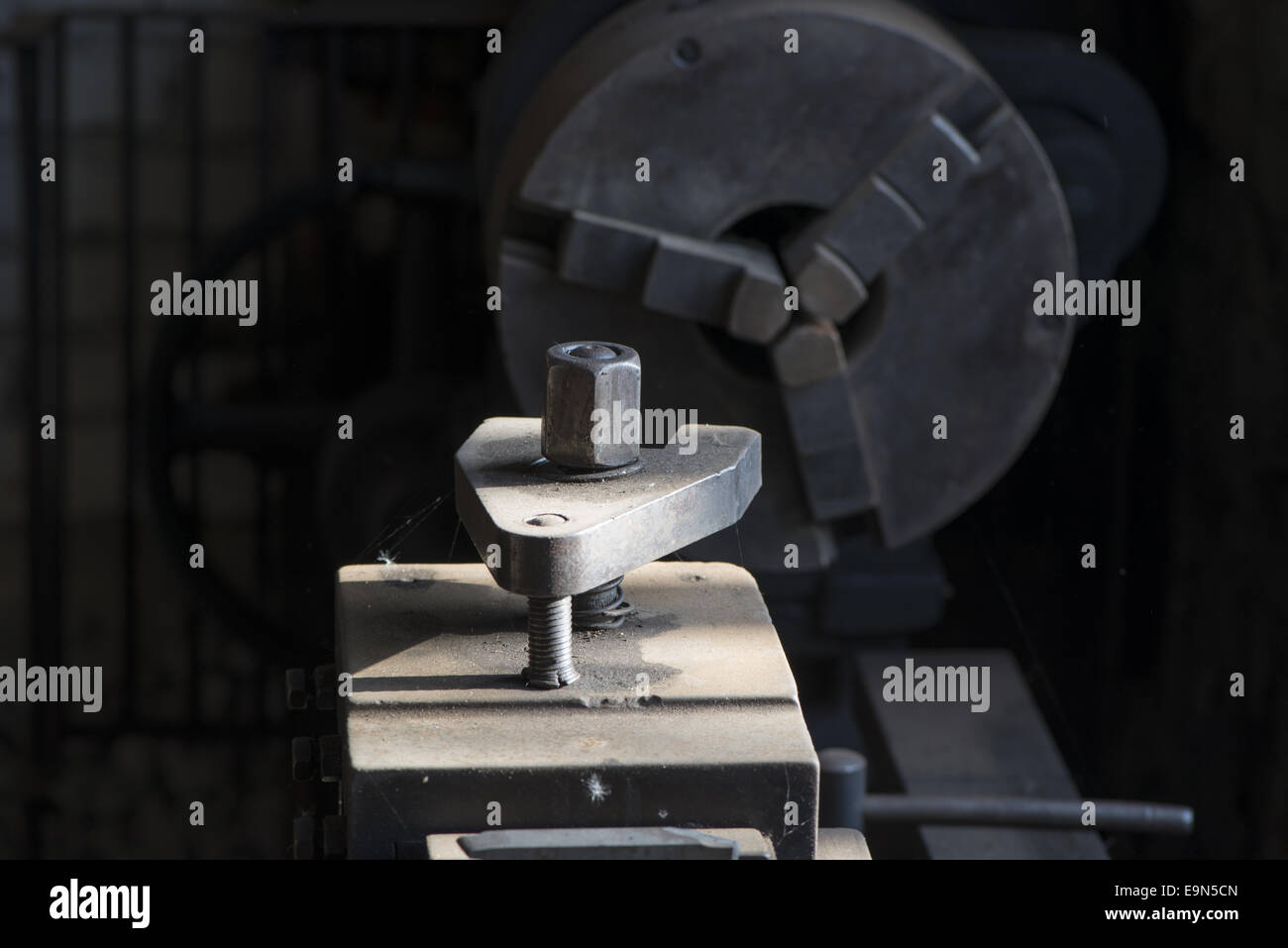 Lathe of Locksmith - Stock Image
