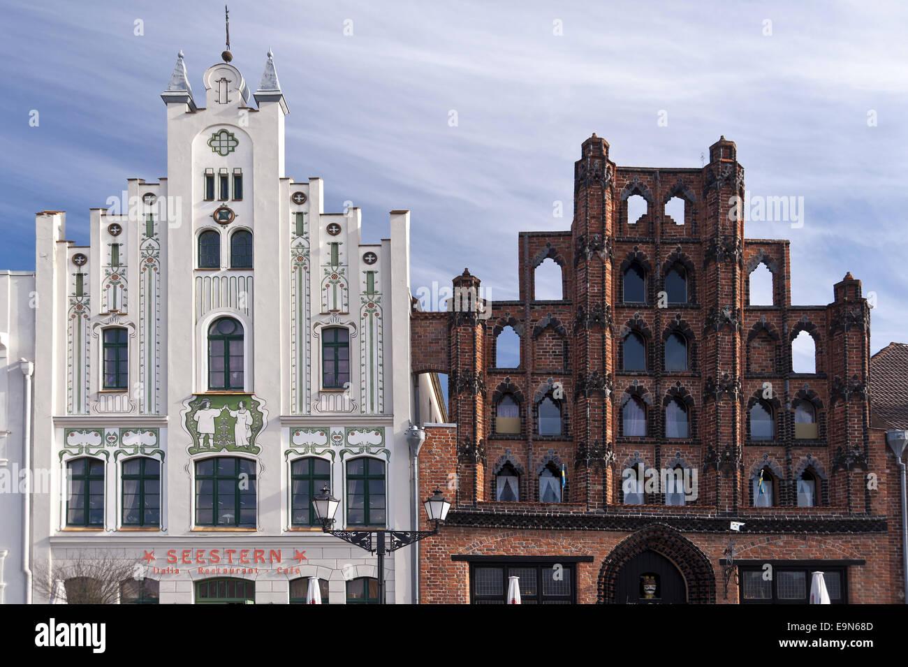 Building in Wismar Stock Photo