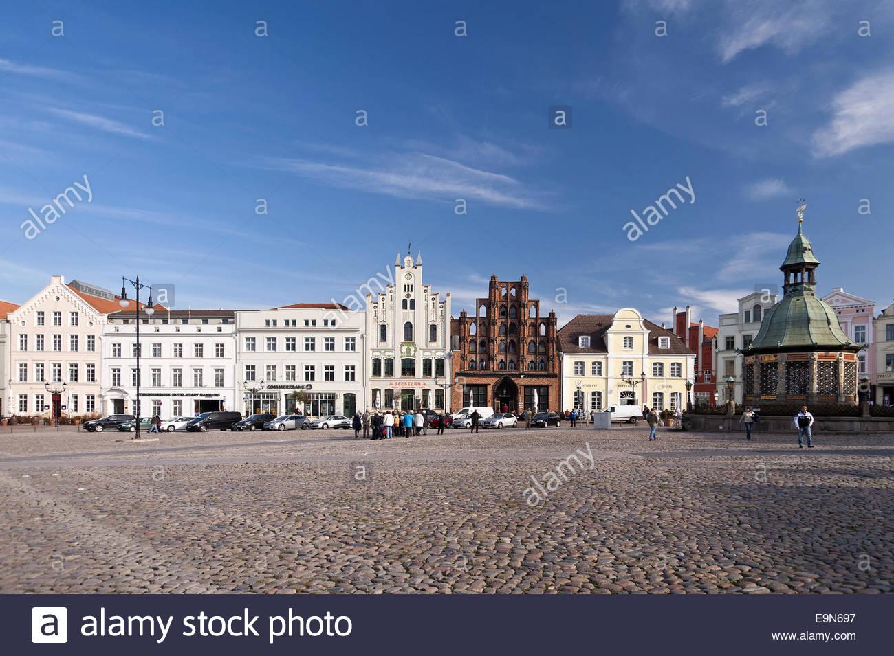 Building in Wismar - Stock Image