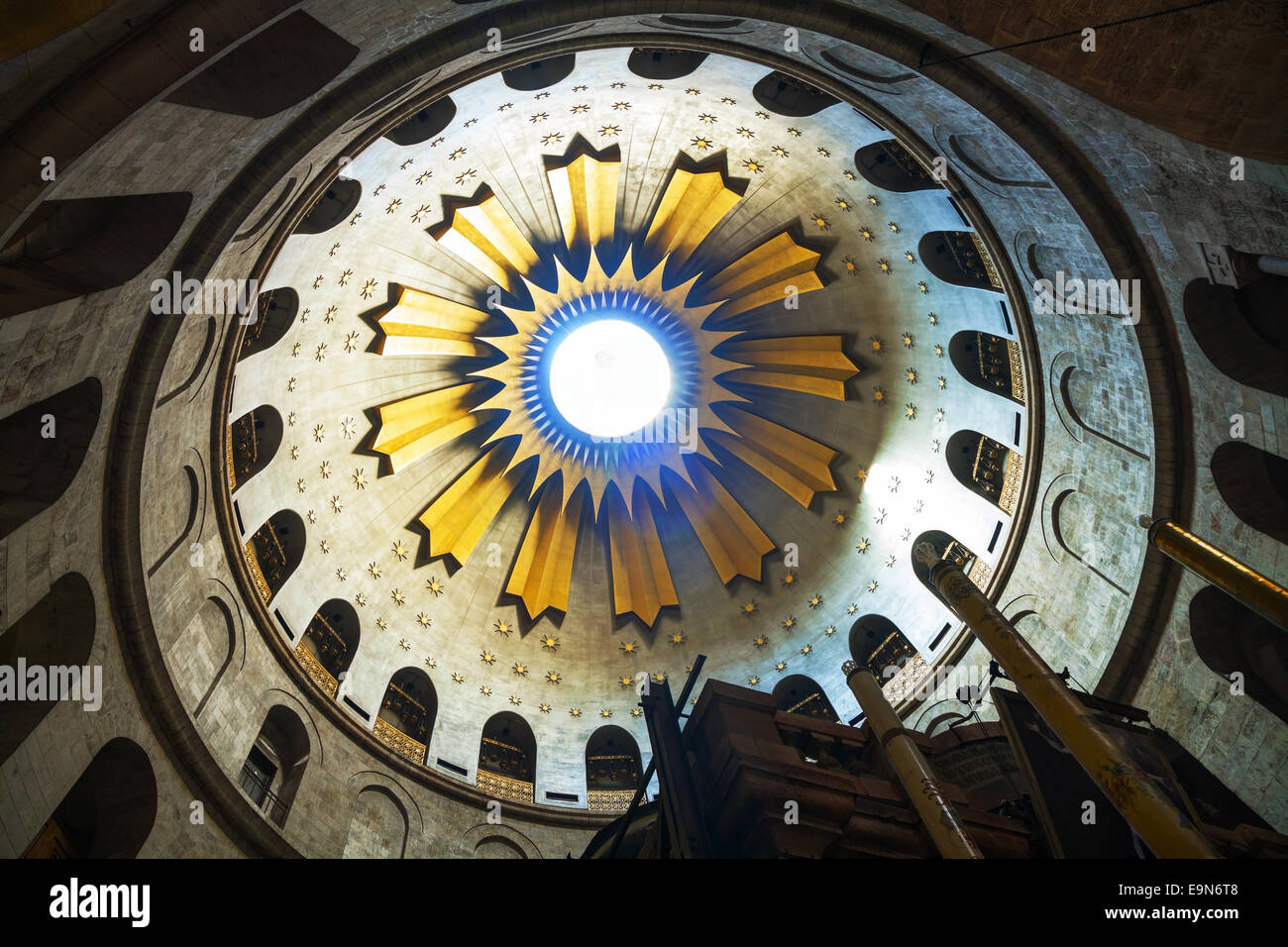 Interior of the Church of Holy Sepulchre - Stock Image