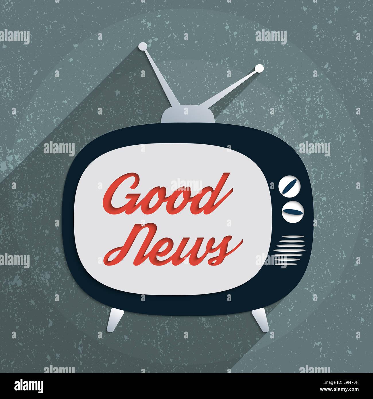 Concept for information society, globalization, propaganda and media manipulation. Flat design illustration. - Stock Image
