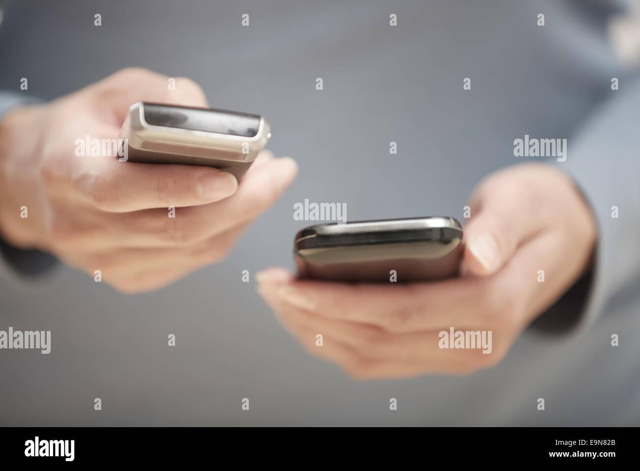 Two smartphones - Stock Image