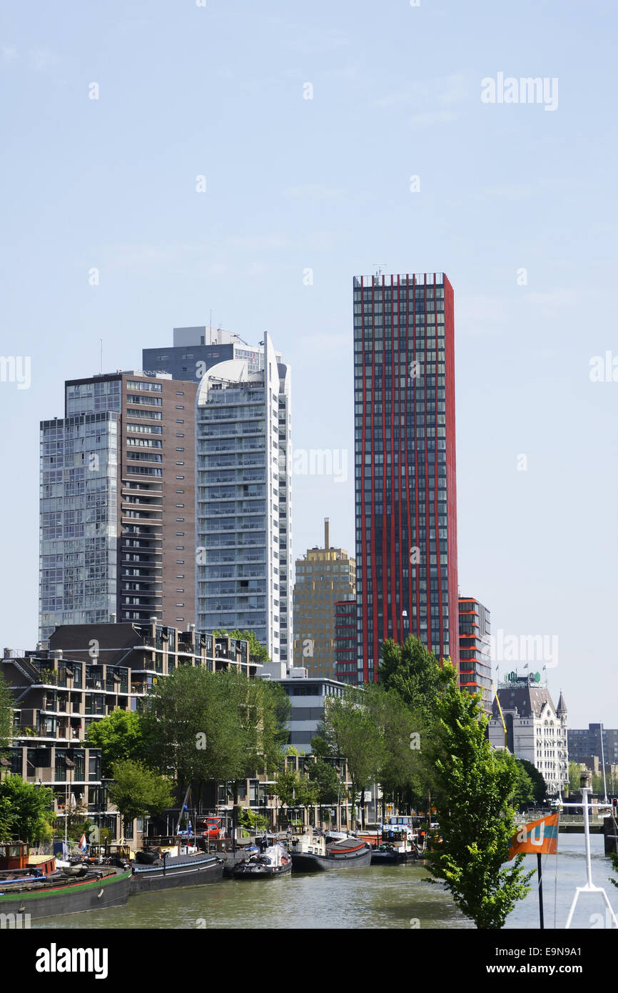 Skyline in Rotterdam, Stadsdriehoek Stock Photo