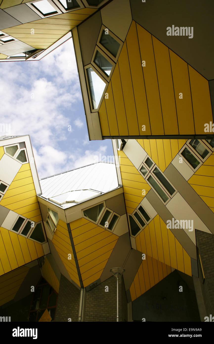 Kubushouses in Rotterdam, Netherlands Stock Photo