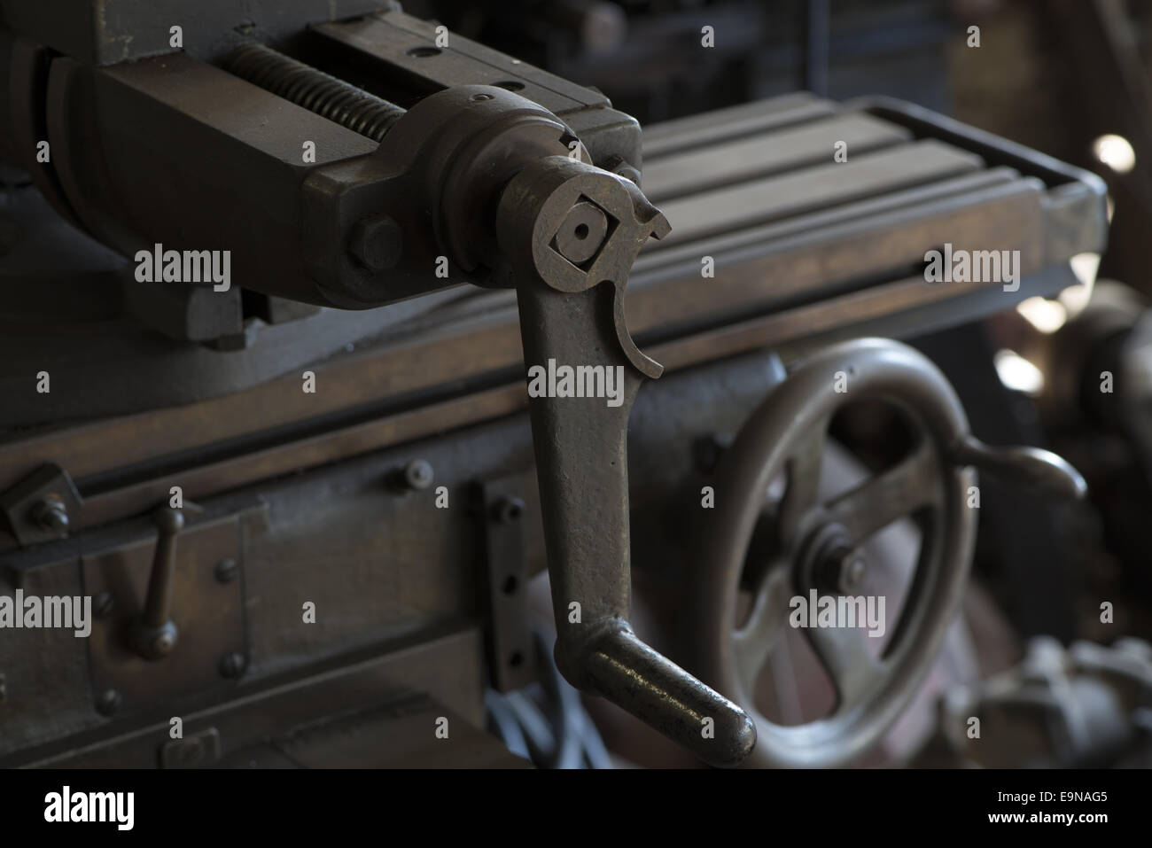 Lathe of a Locksmith - Stock Image