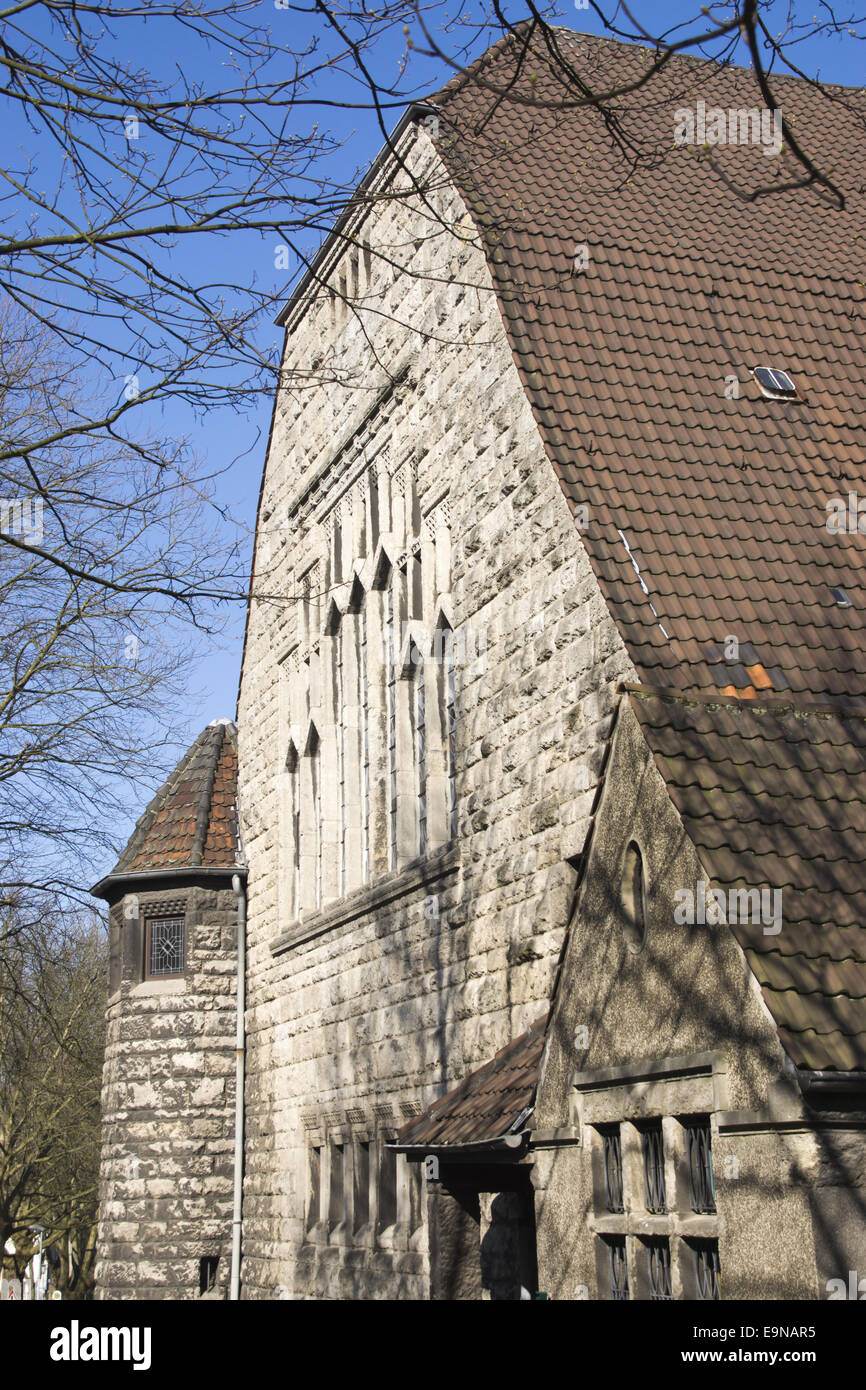 Luther church in Bochum, Germany - Stock Image