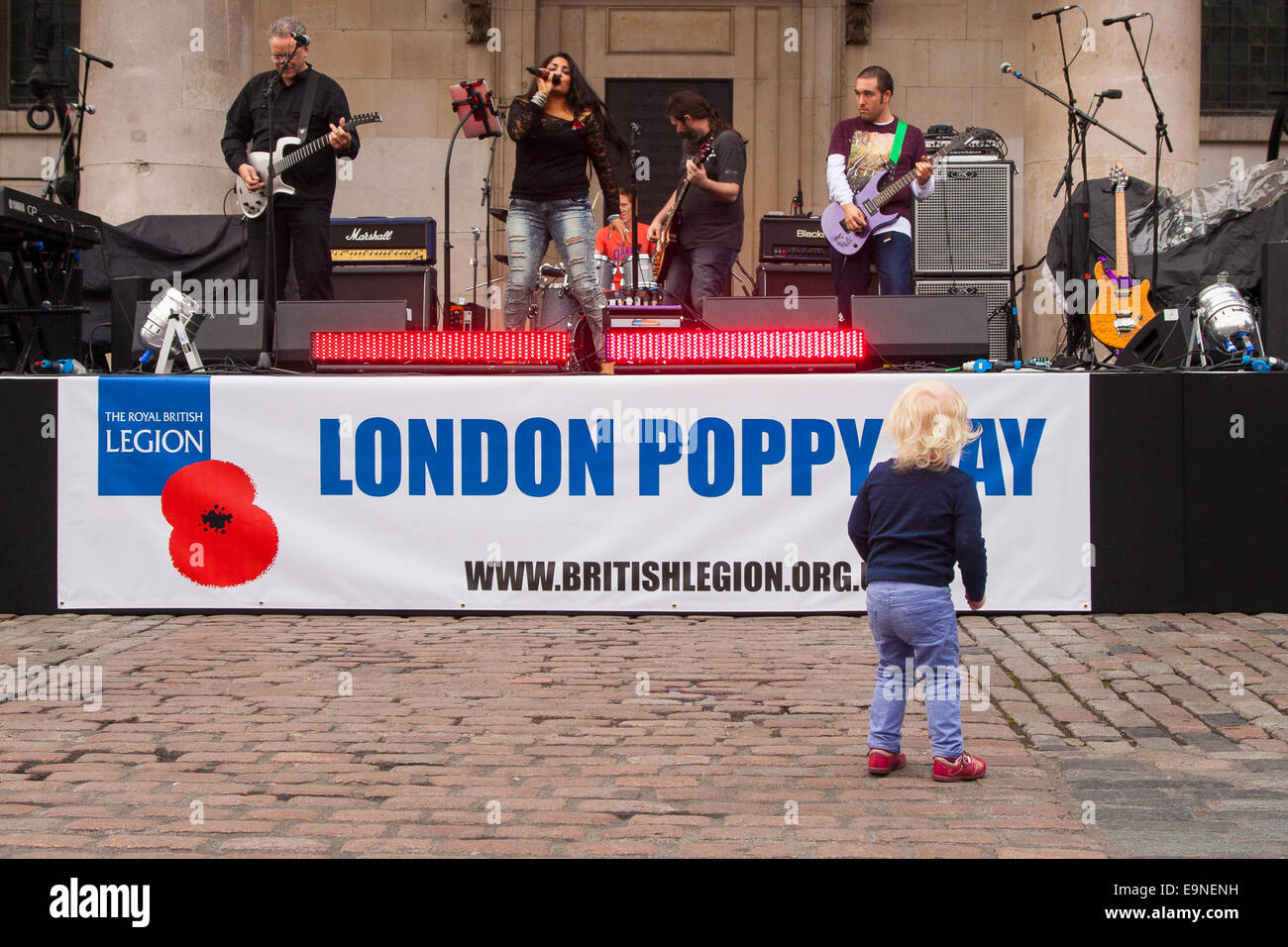 Covent Garden, London, UK. 30th october, 2014. They Royal British Legion's Poppy Day in London centred around - Stock Image