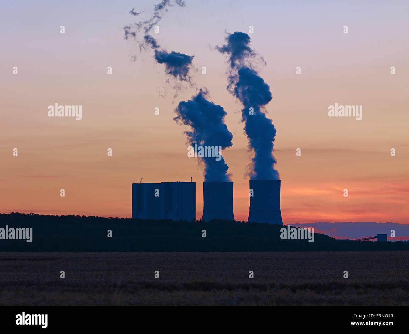 Lippendorf power plant, Saxony, Germany - Stock Image