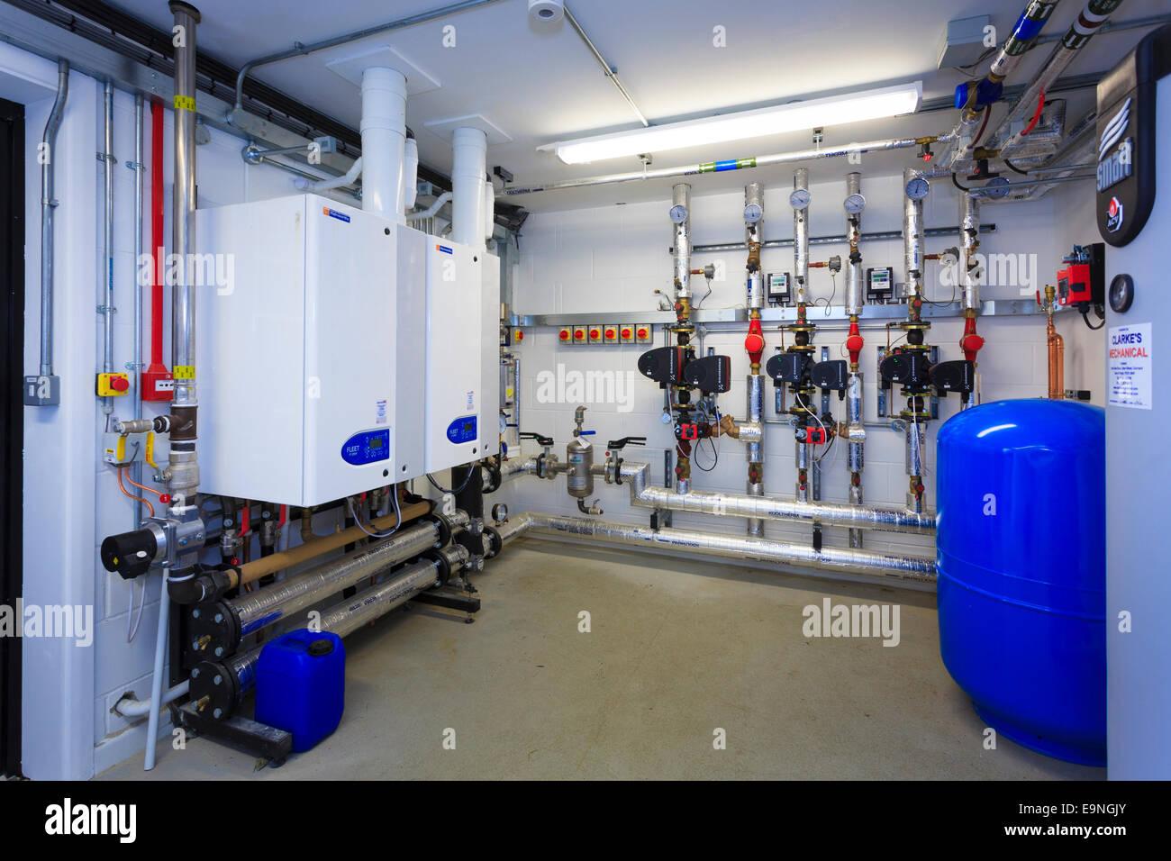 Small boiler room servicing a small school Stock Photo: 74847443 - Alamy