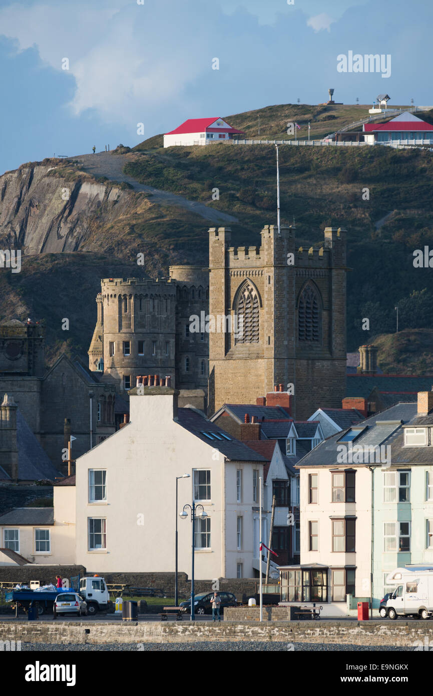 Architecture in the UK: General townscape showing the Castle / University / St Michaels church  / Constitution Hill - Stock Image