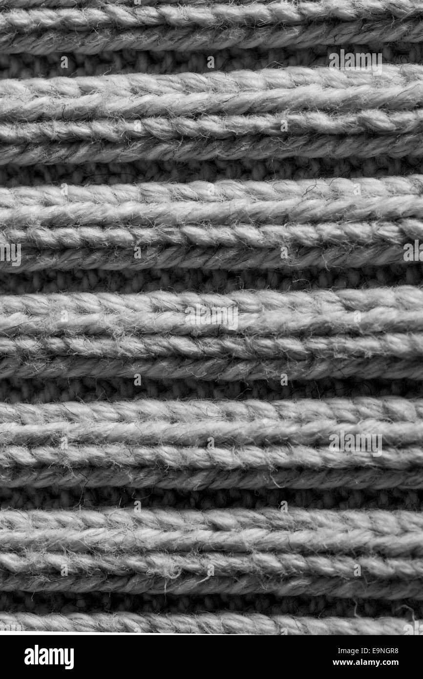 Natural Wool Stockinet to use as background - Stock Image