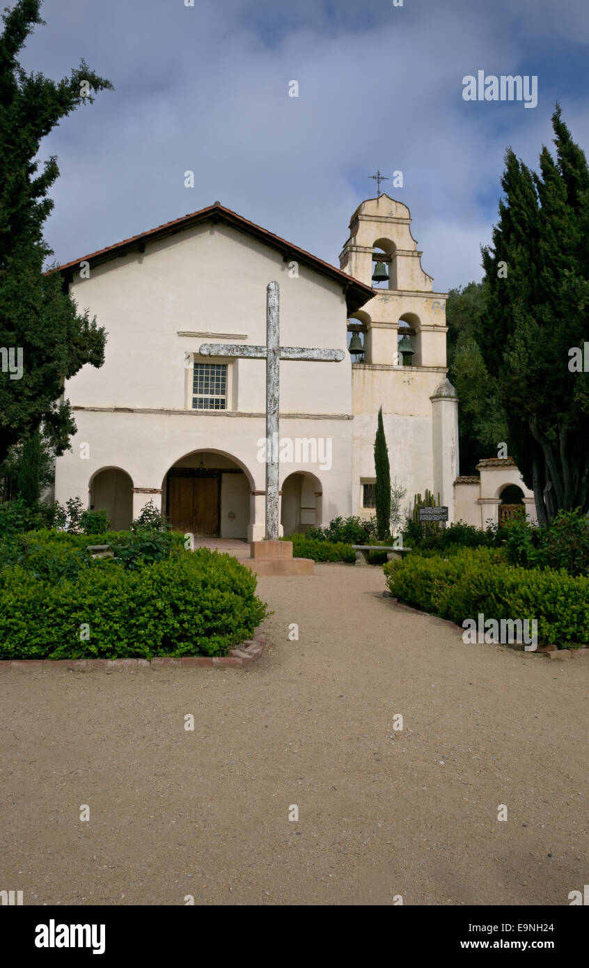 CA02360-00...CALIFORNIA - Mission San Juan Bautista at the San Juan Bautista State Historic Park near Hollister. - Stock Image