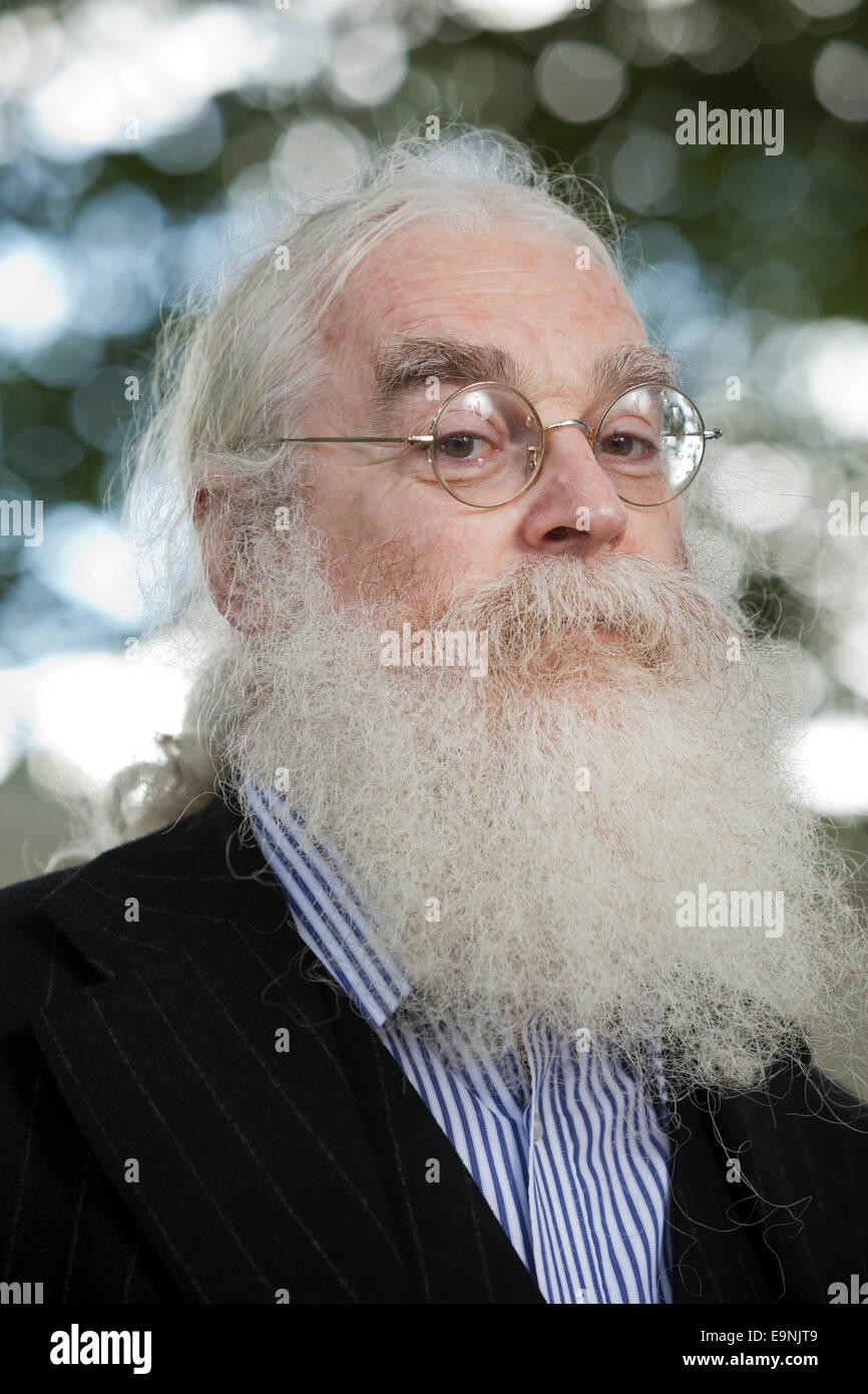 Irving L. Finkel, the British archaeologist and Assyriologist, at the Edinburgh International Book Festival 2014. - Stock Image