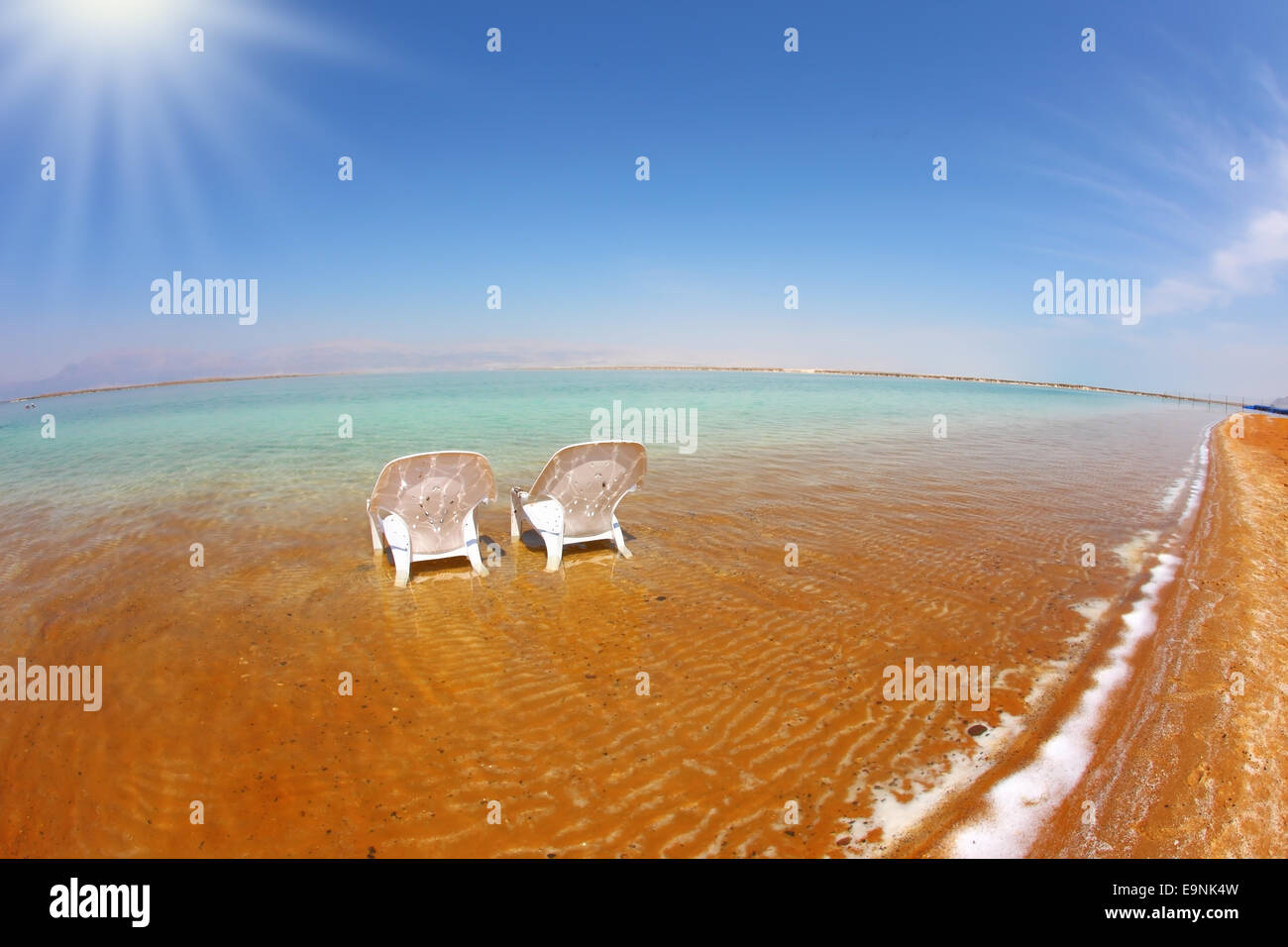 The sun shines on the beach therapeutic - Stock Image