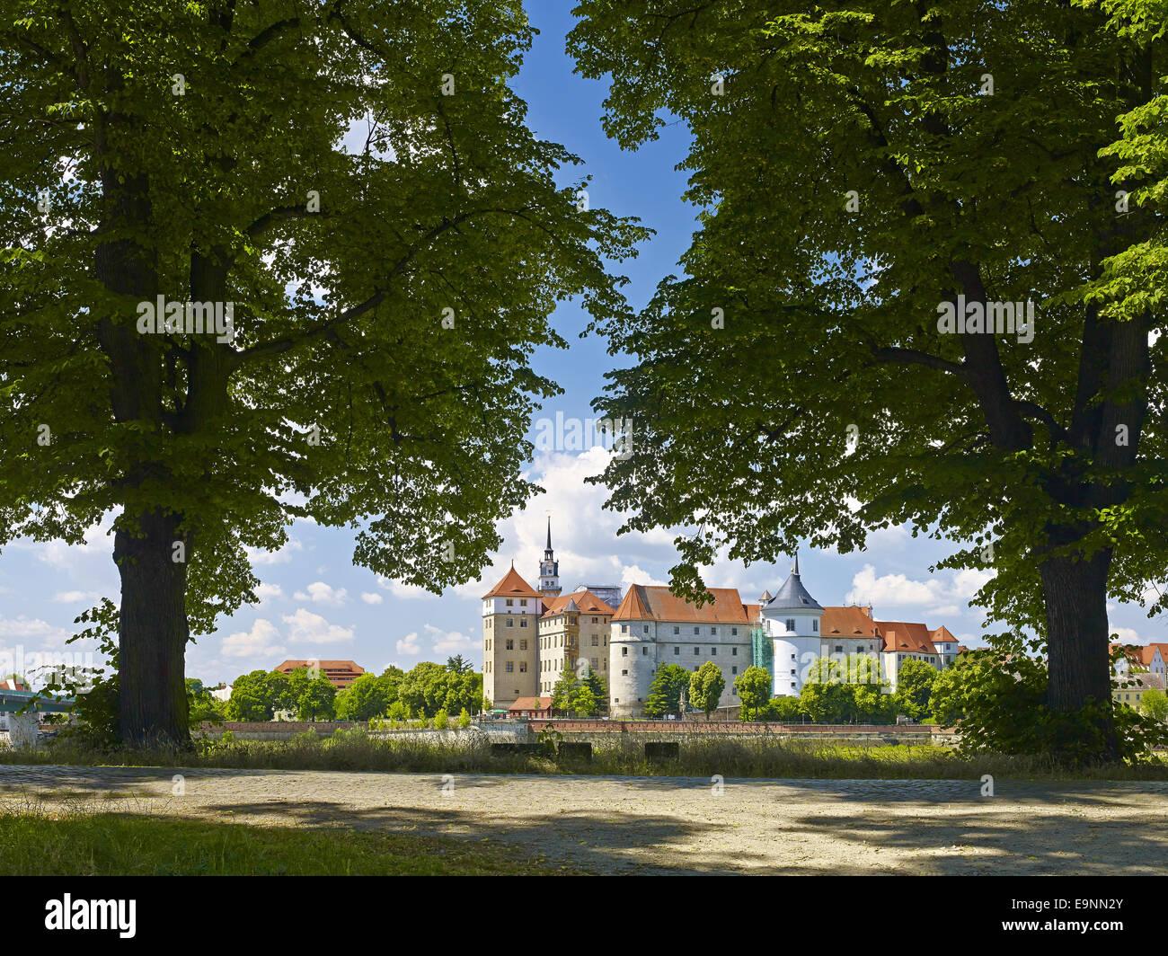 Castle Hartenfels, Torgau, Germany Stock Photo
