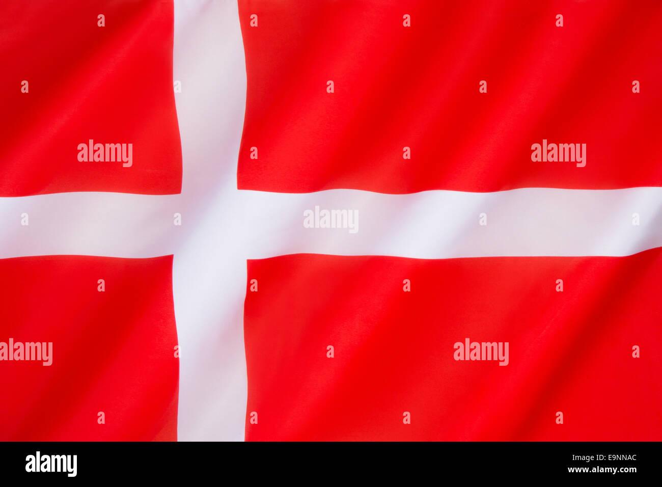 Flag of Denmark (Dannebrog) - Stock Image