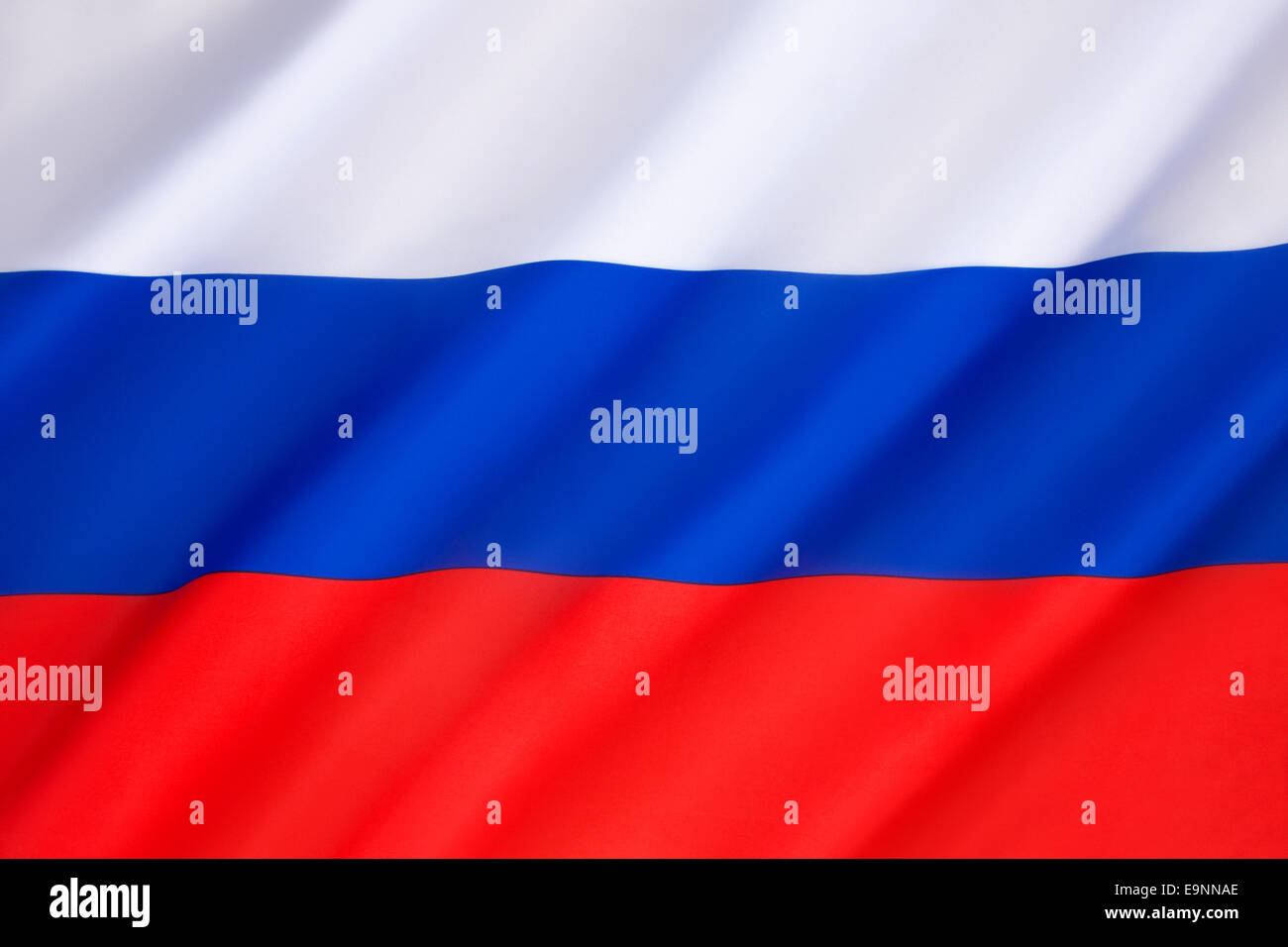 Flag of the Russian Federation - Stock Image