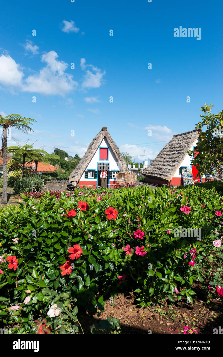 Traditional home, Santana, Madiera, Canary Islands - Stock Image