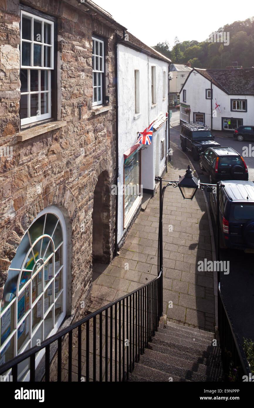 Exmoor National Park - Fore Street,  Dulverton, Somerset UK - Stock Image