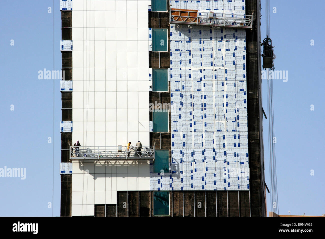 Construction work on a tower in Manama, Bahrain - Stock Image