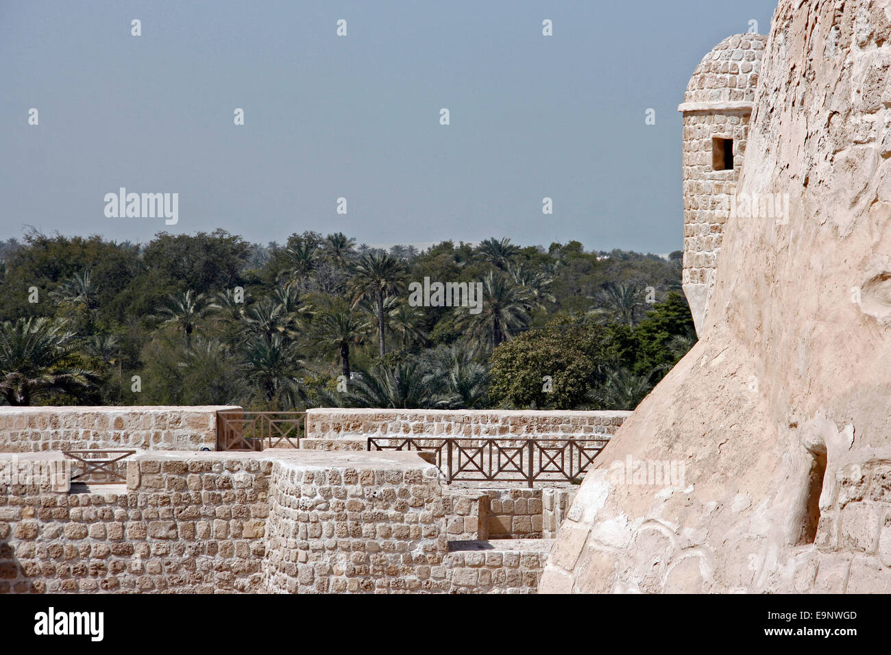Qala'at Bahrain, also known as the Portuguese Fort, near Manama, Bahrain - Stock Image