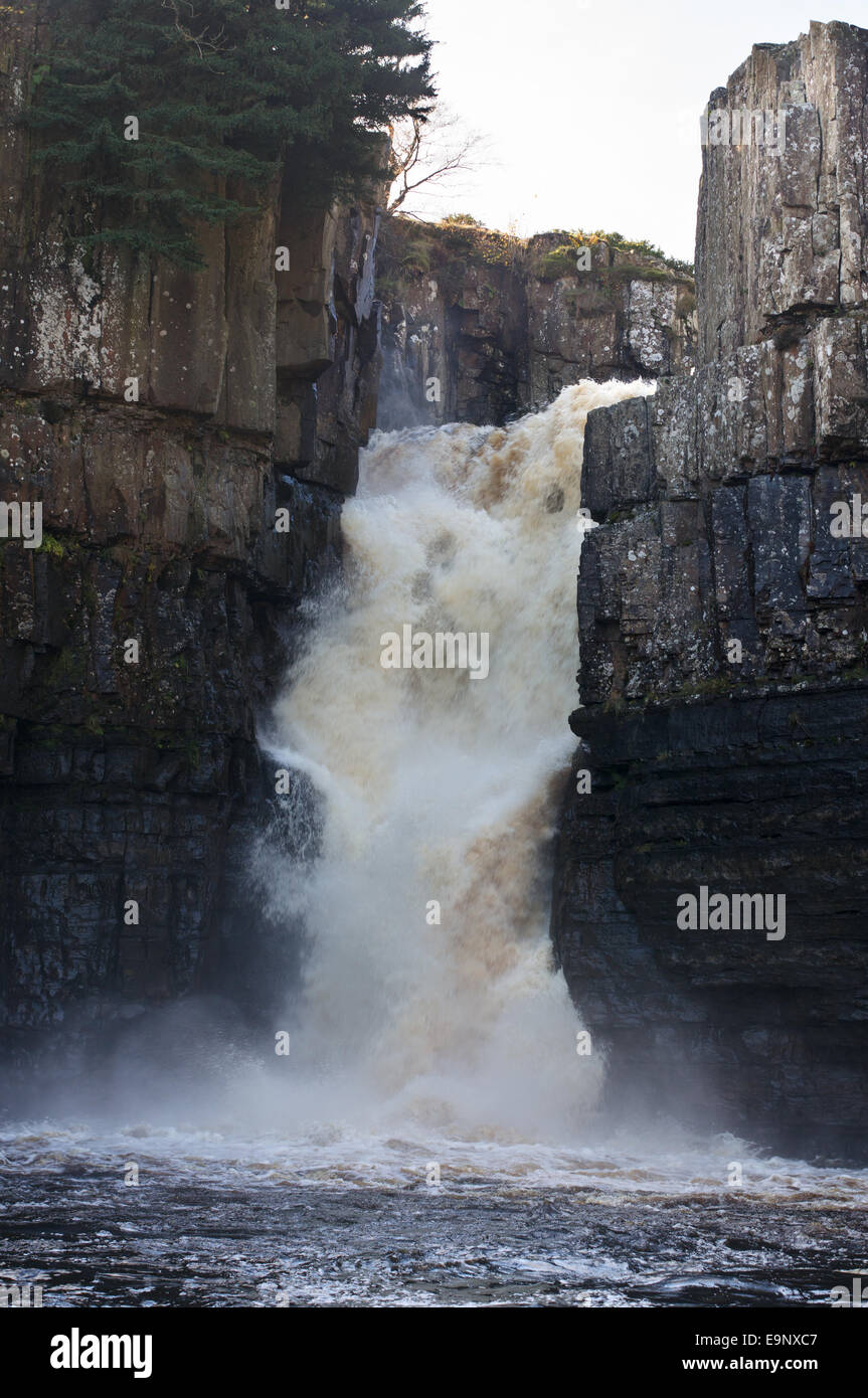 High Force waterfall in Teesdale, north east England, UK - Stock Image