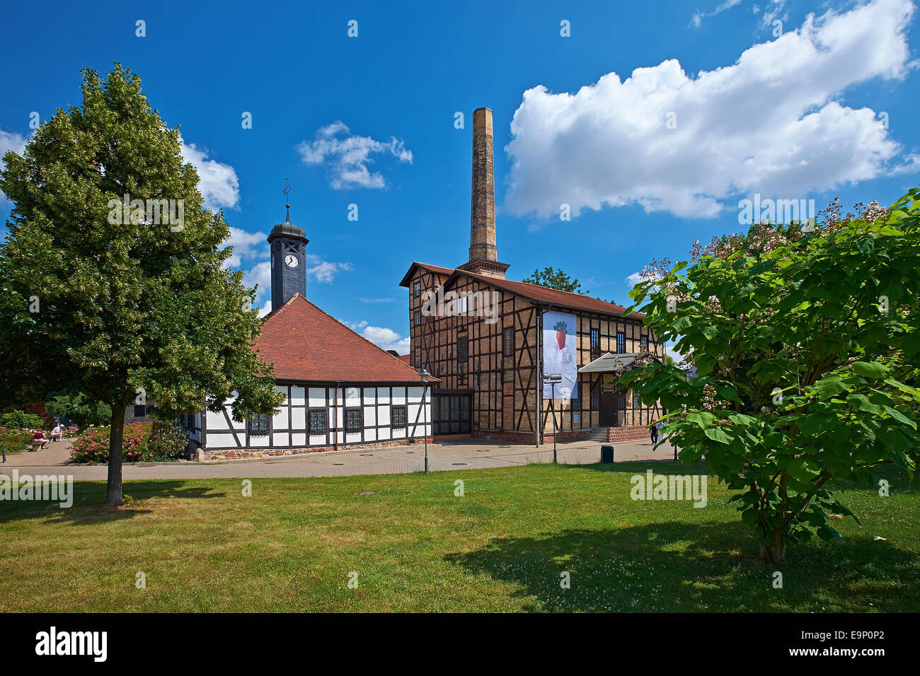 Technical Hallors and Saline Museum in Halle, Germany - Stock Image