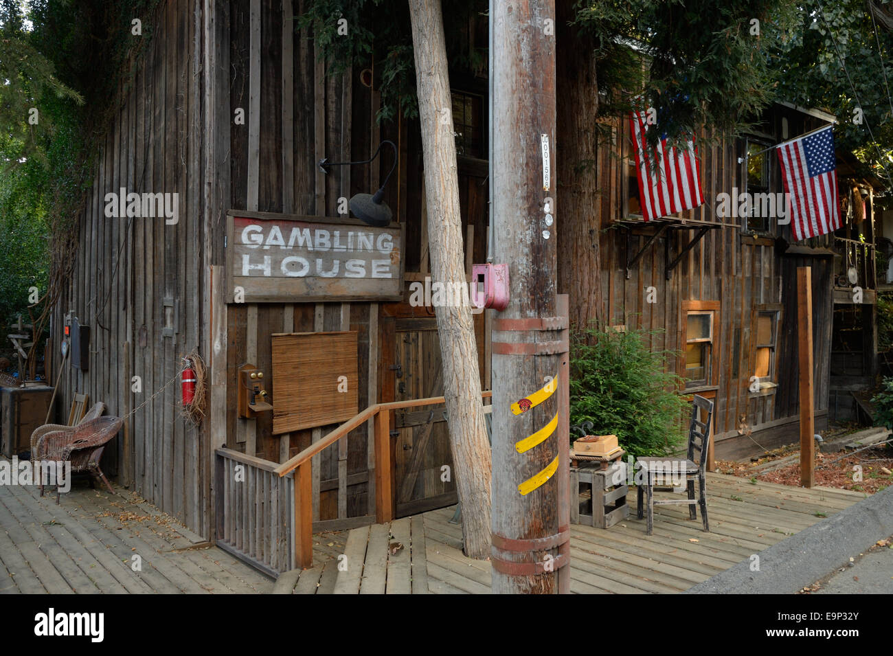 Locke Historic District (Lockeport), CA - Stock Image