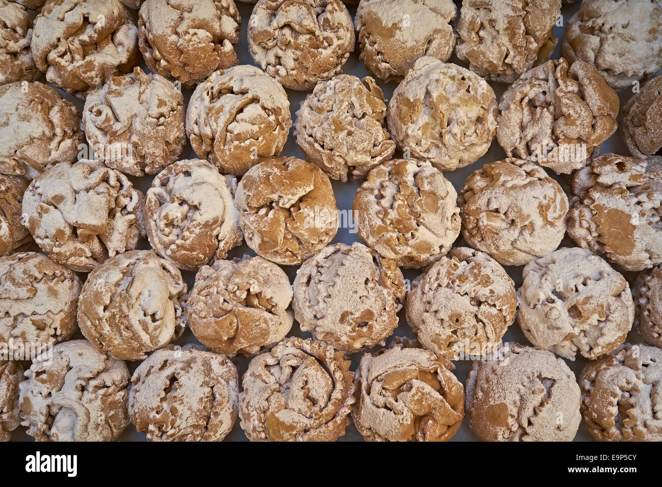 Schneeballen or snowballs, specialty, pastry from Bavaria, Germany - Stock Image