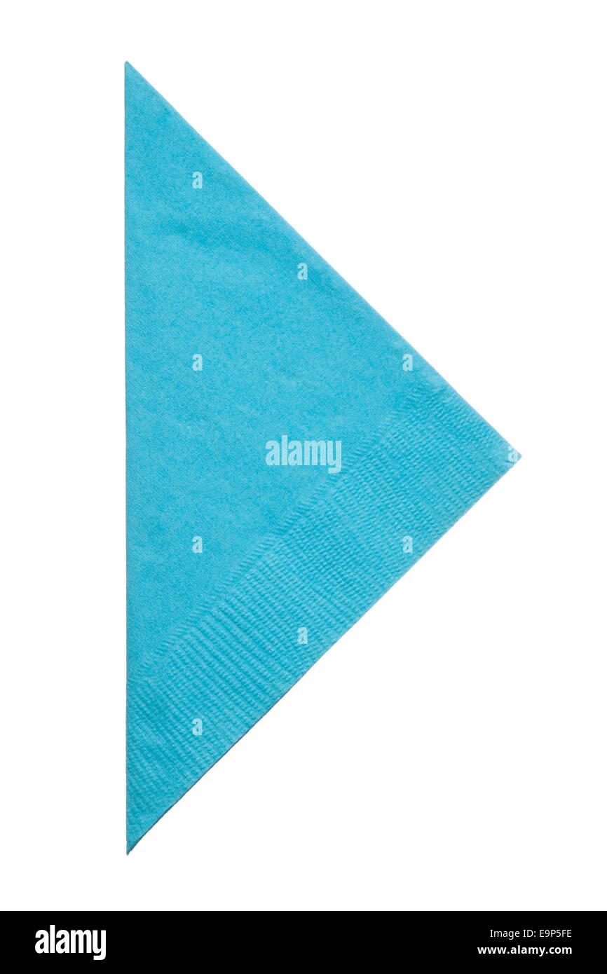 Triangle napkin isolated on white background, close up - Stock Image