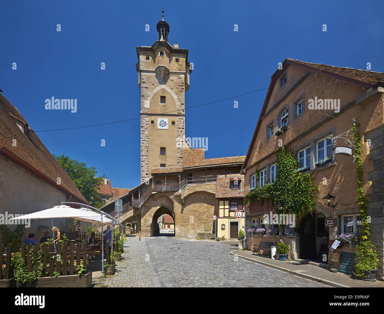 klingentor in rothenburg ob der tauber bavaria germany stock photo 74861326 alamy. Black Bedroom Furniture Sets. Home Design Ideas