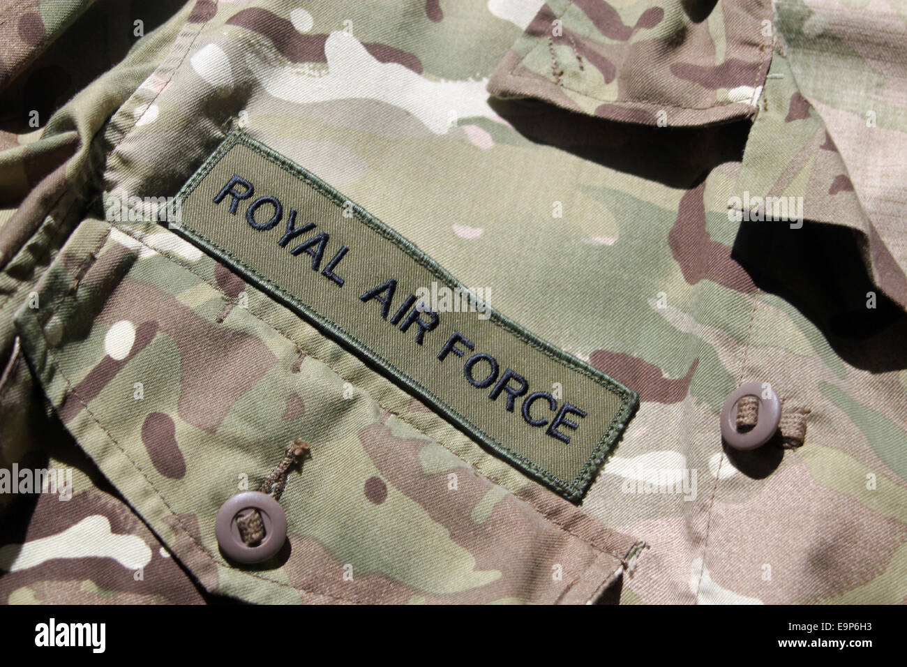 Close-up of RAF military uniform - Stock Image
