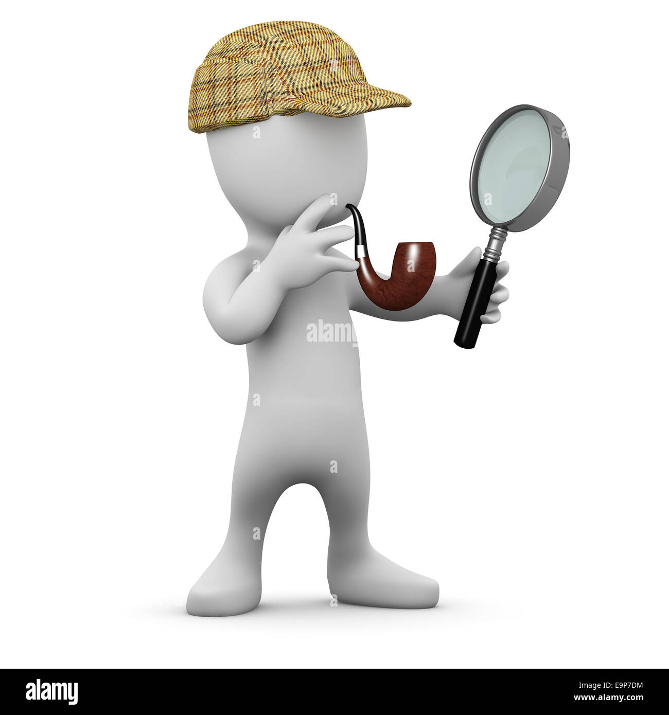 d5ac951fc Deerstalker Sherlock Hat Magnifying Glass Stock Photos & Deerstalker ...
