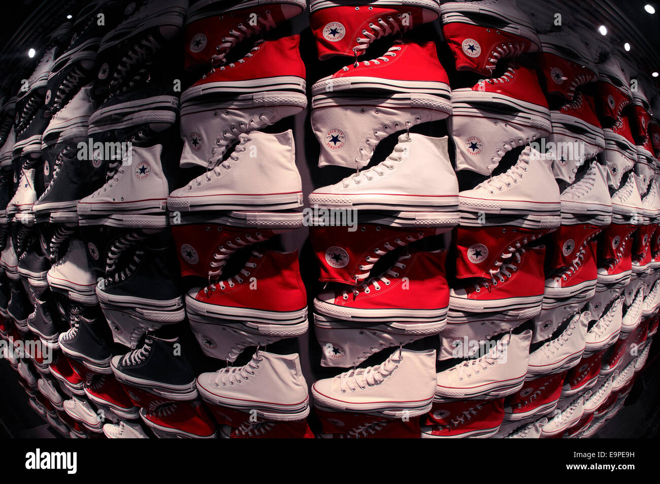 Converse All Star shoes. - Stock Image