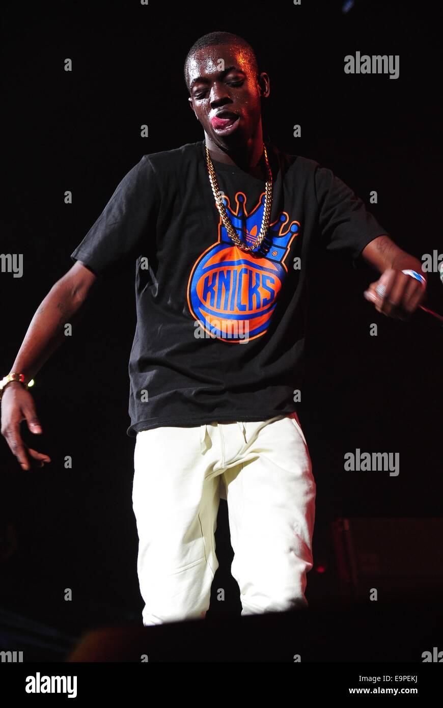 Brooklyn, NY, USA  30th Oct, 2014  Bobby Shmurda on stage