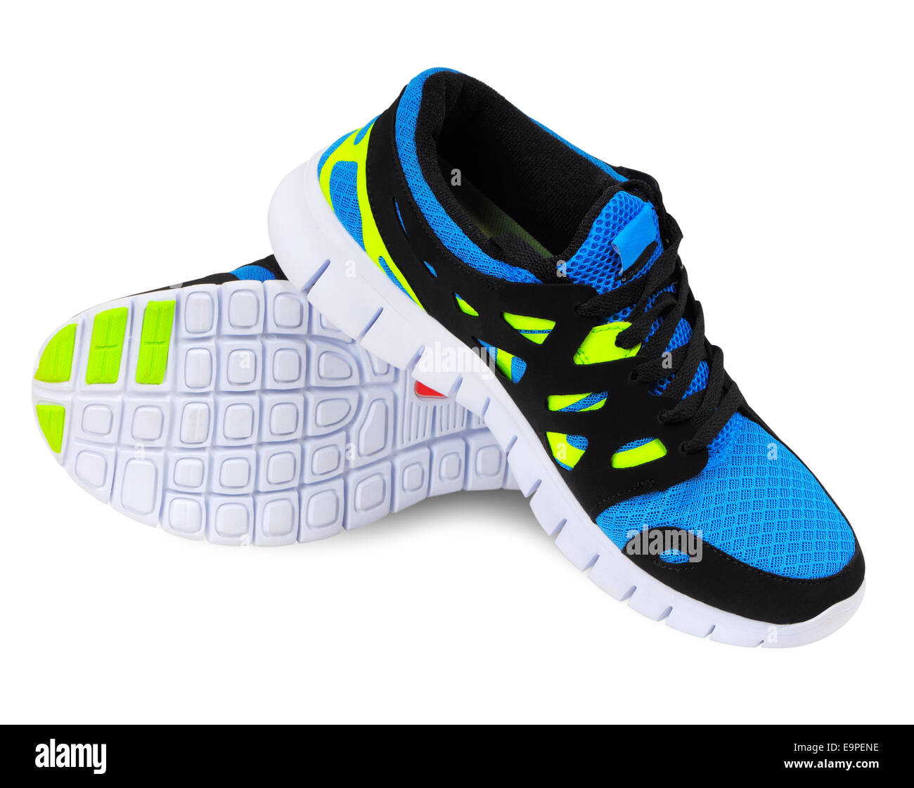 Lightweight running shoes for athletics on a white background - Stock Image
