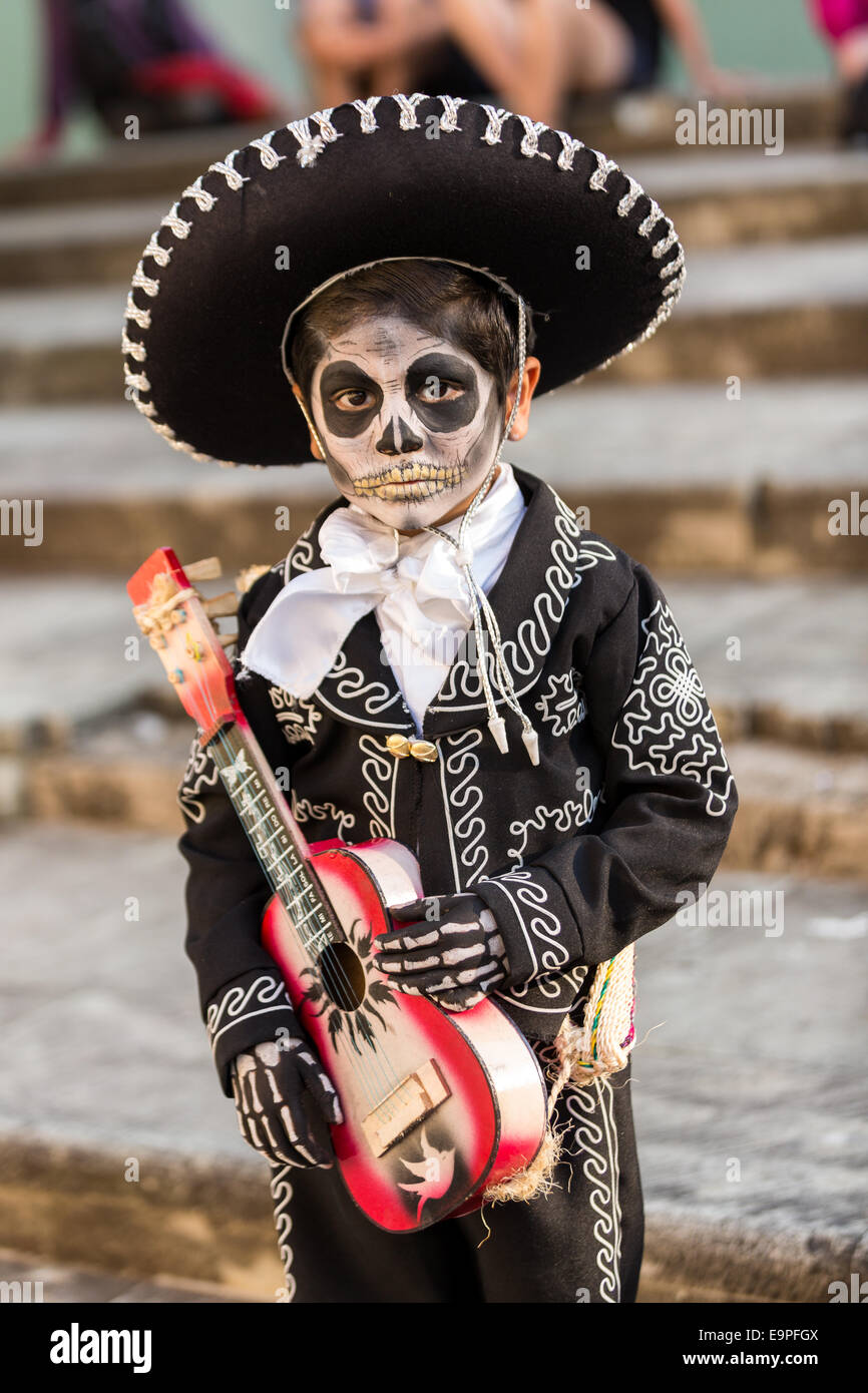 A young boy dressed in costume as Santa Muerte during the Day of the Dead Festival  sc 1 st  Alamy & Mexico Boy Party Stock Photos u0026 Mexico Boy Party Stock Images - Alamy