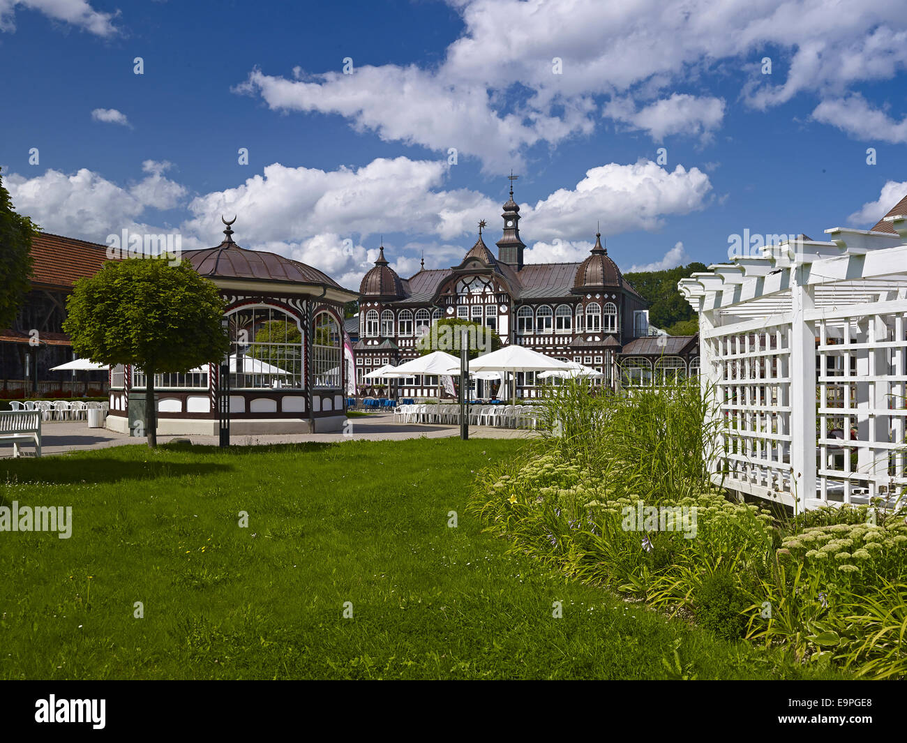 Spa of the graduation house in Bad Salzungen, Germany - Stock Image
