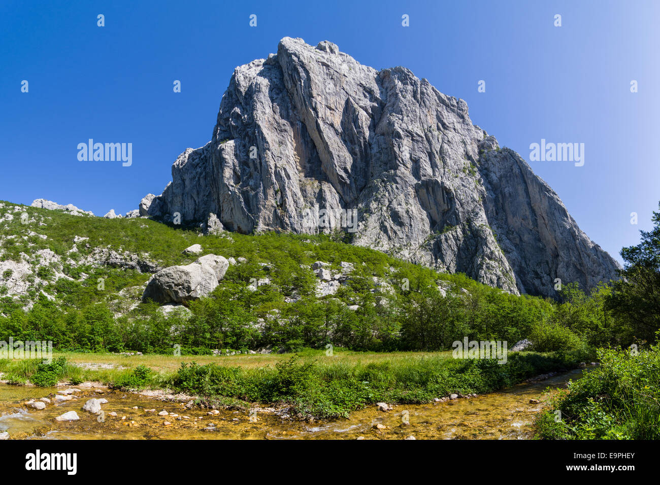 Velebit, most famous mountain in Croatia. Known for it's natural beauty. Stock Photo
