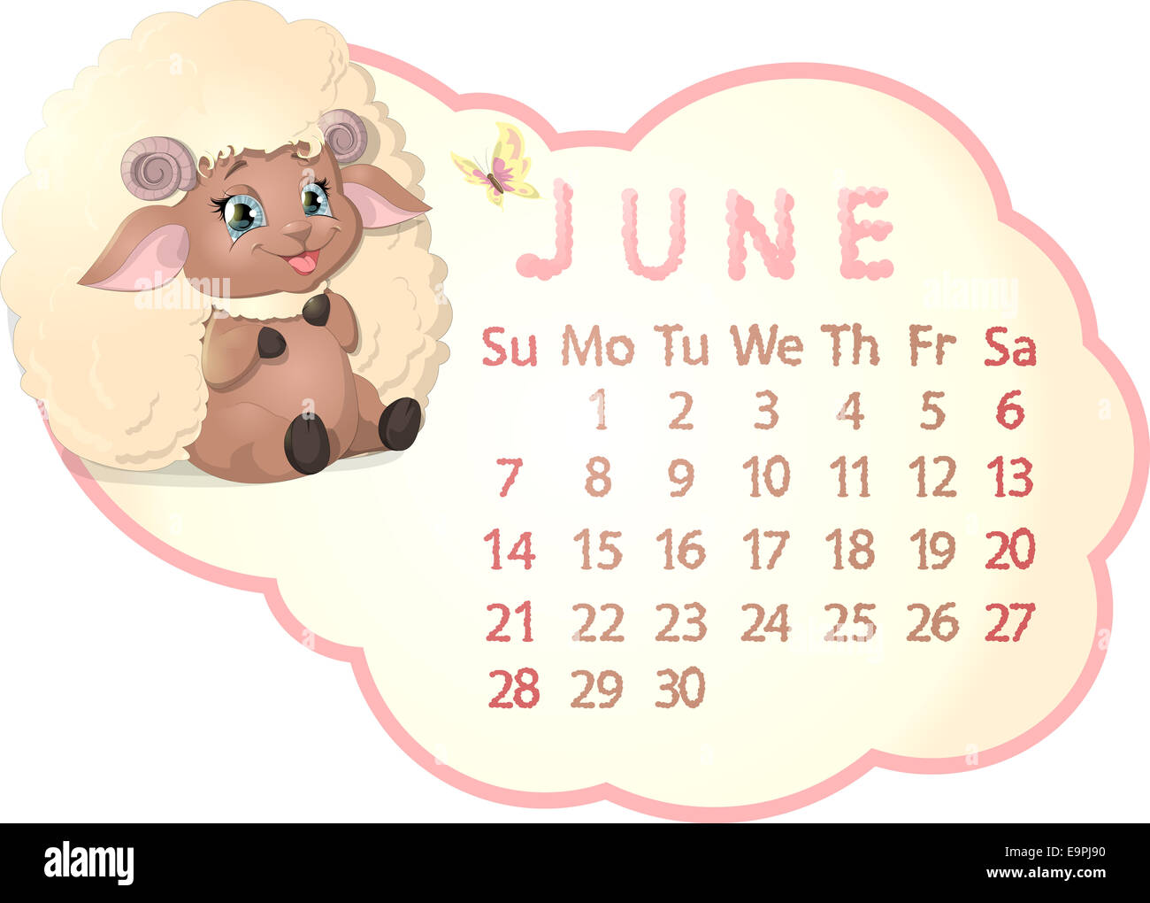 beautiful calendar Stock Photo