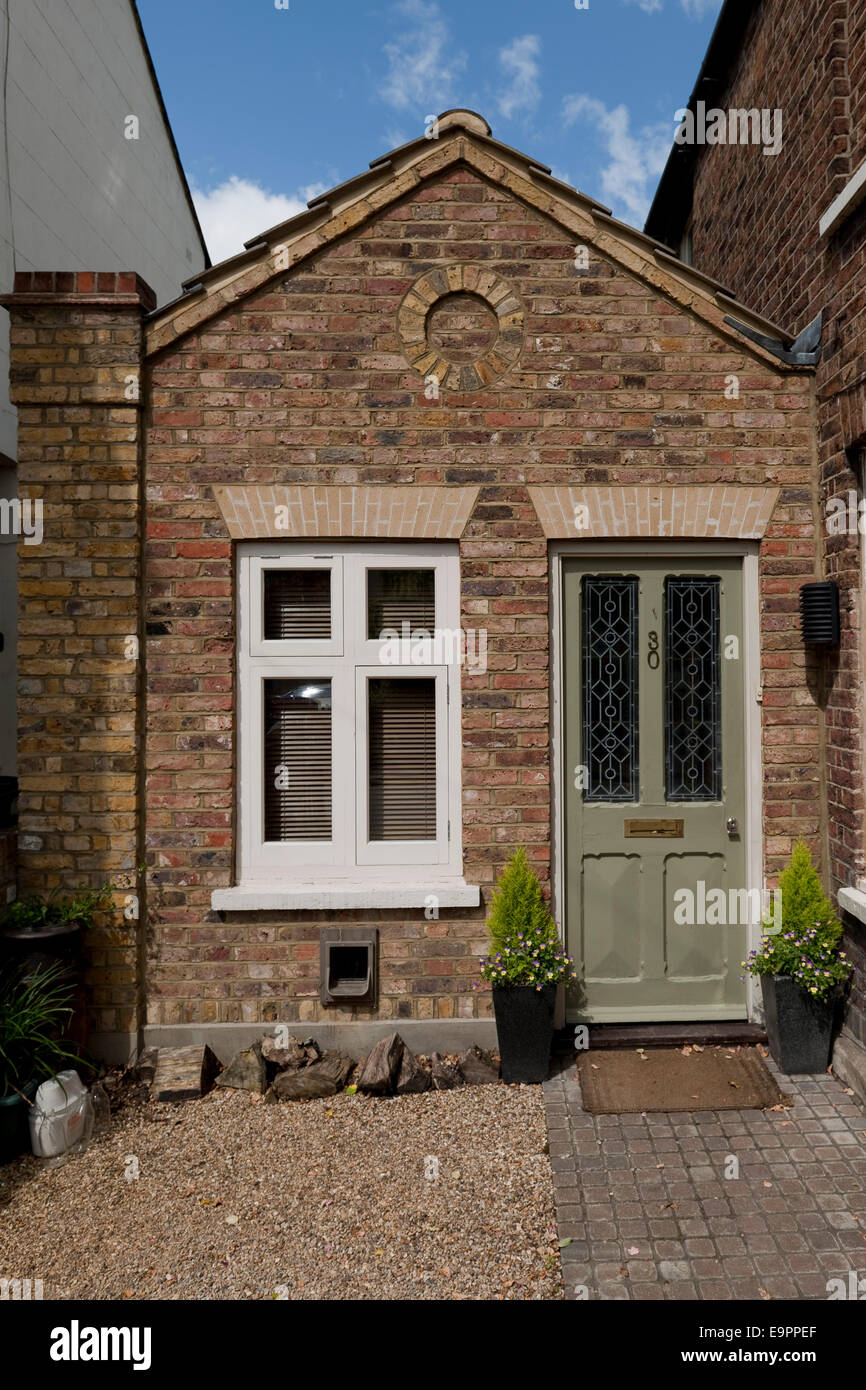 Front Door Of Single Storey Extension, Victorian Semi Detached House,  Kingston Upon Thames, England, UK