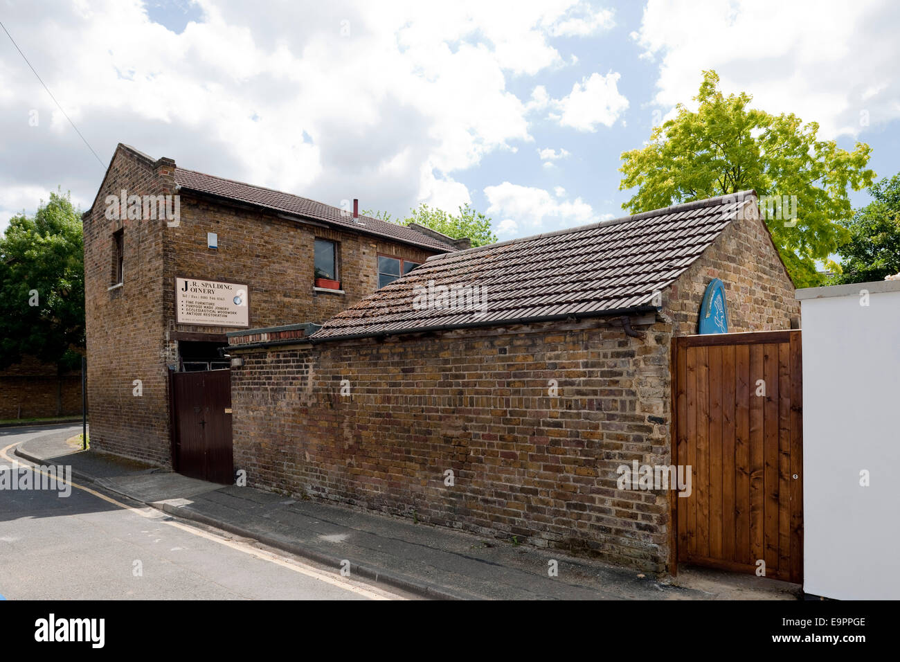 Brick Exterior Of Woodworking And Joinery Factory, Kingston Upon Stock  Photo: 74874030   Alamy