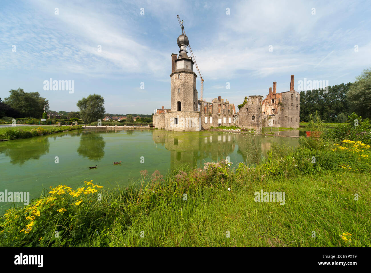 chateau d 39 havr wasserschloss mons wallonie belgien europa stock photo 74877385 alamy. Black Bedroom Furniture Sets. Home Design Ideas