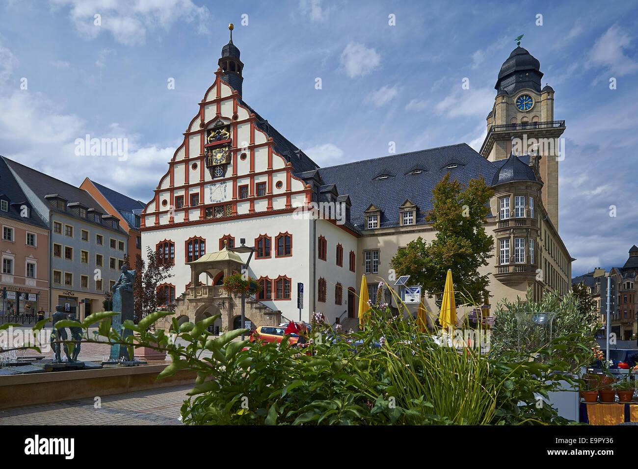 City Hall in Plauen, Germany Stock Photo: 74877578 - Alamy
